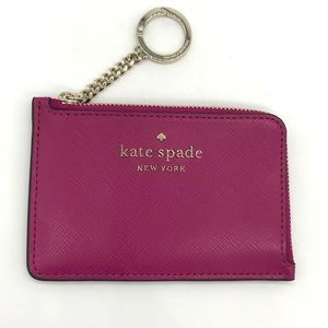 Kate Spade L-zip Key Card Coin Case